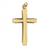 Cross Grooved 25x17mm Gold